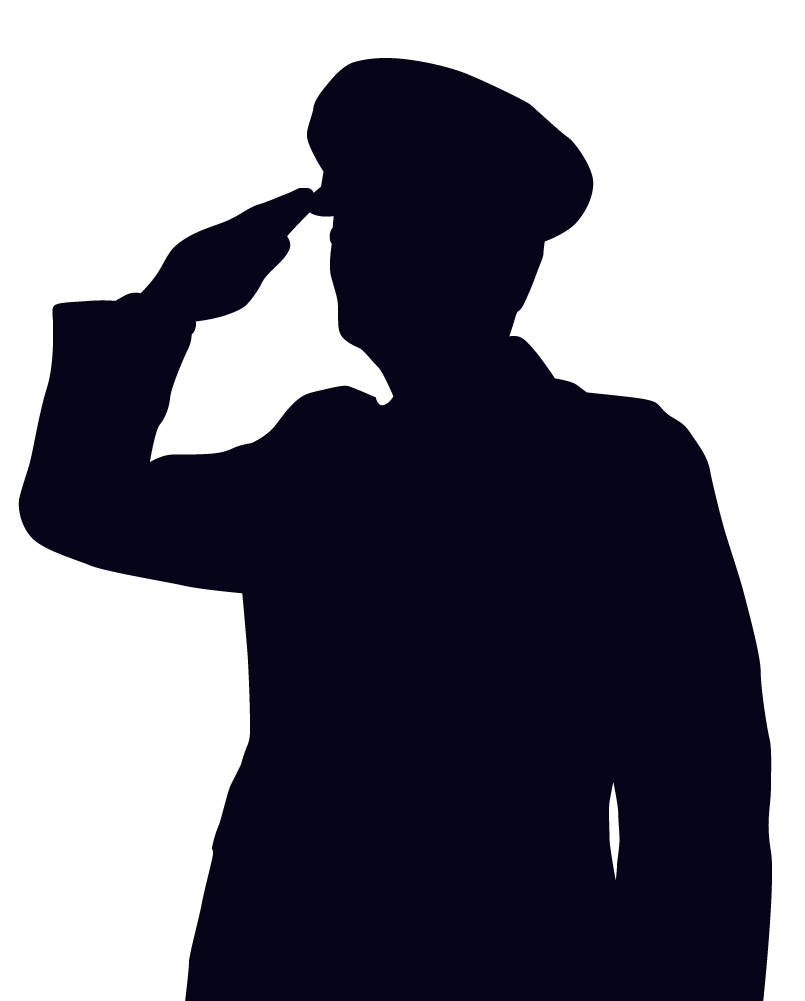 Saluting soldier